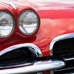 Vintage Sports Car Headlights — Stock Photo