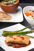 Thai Sea Bass and Asparagus — Stock Photo