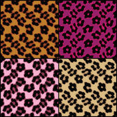 Leopard Print Tiles — Stock Photo