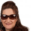 Middle Aged Woman with Sunglasses — Stock Photo #14597851