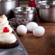 Baking Gourmet Cupcakes — Stock Photo #17615125