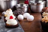 Baking Gourmet Cupcakes — Foto Stock