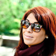 Redhead Woman Wearing Sunglasses — Stock Photo