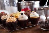 Vielzahl von gourmet-muffins — Stockfoto