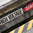 High Voltage Danger Sign — Stock Photo