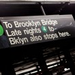 Stock Photo: Brooklyn NYC Subway Sign