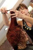 Haircut at the Salon — Stock Photo