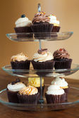 Cupcakes Tiered Tray — Stock Photo