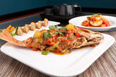 Red Snapper with Tamarind Sauce — Stock Photo