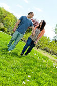 Couple Walking During Spring — Stock Photo