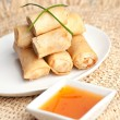 Thai Egg Rolls - Stock Photo