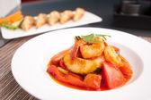 Camarones thai agridulce — Foto de Stock