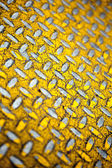 Yellow Diamond Plate Metal — Stock Photo