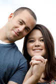 Happy Interracial Married Couple — Stock Photo