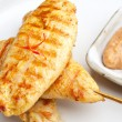 Royalty-Free Stock Photo: Grilled Chicken Satay Close Up