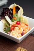 Thai Salad with Shrimp and Squid — Stock Photo