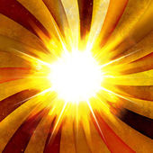 Fiery Radial Burst — Stock Photo