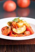 Sweet and Sour Shrimp Plate — Stock Photo