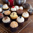 Assorted Gourmet Cupcakes — Stock Photo #26687913