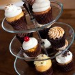 Cupcakes On a Tiered Tray — Stock Photo