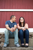 Smiling and Fun Couple — Stock Photo