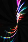 Colorful Fractal Swirl Lines — Stock Photo