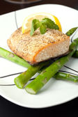 Aljašský losos večeře — Stock fotografie