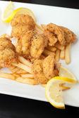 Smažené krevety talíř — Stock fotografie