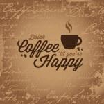 Coffee Makes You Happy — Stock Vector #28298493