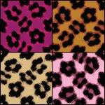 Seamless Leopard Print Textures — Stock Vector #28437657