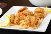 Jantar de camarão frito — Fotografia Stock