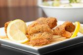 Fried Shrimp Macro — Stock Photo