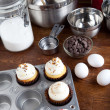 Baking Gourmet Cupcakes — Stock Photo #29407057