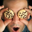 Crazy Cookie Eyed Man — Stock Photo #31830041