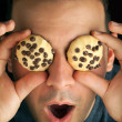 Crazy Cookie Eyed Man — Stock Photo