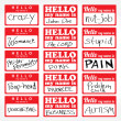Hello My Name is Nametags — Stock Vector