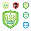 Non GMO Labels — Stock Vector