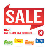 Sale Signage Elements — Stock Vector