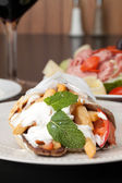 Greek Gyro Pita Wrap — Stock Photo