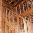 Stock Photo: Unfinished Home Frame Interior