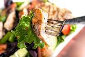 Вкусный гриль куриный салат — Стоковое фото
