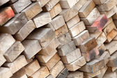 Stack of Old Lumber — Stock Photo
