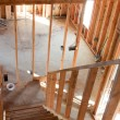 Stock Photo: House Framing Interior