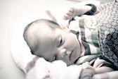 Newborn Baby Waking Up — Stock Photo