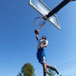 Basketball Player Dunking — Stock Photo