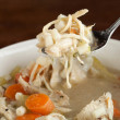 Stock Photo: Chicken Soup Spoonful