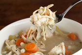 Chicken Soup Spoonful — Stock Photo
