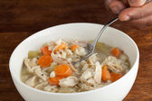 Bowl of Chicken Soup — Stock Photo