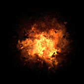 Fiery Exploding Burst — Stock Photo