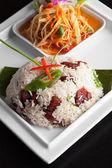 Thai Pork and Rice Dish — Stock Photo